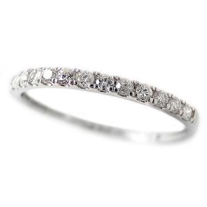 その他 ダイヤモンド リング ハーフエタニティ 0.15ct 10号 プラチナ Pt950 0.15カラット シンプル 細身 エタニティリング 指輪 鑑別カード付き ds-2182080