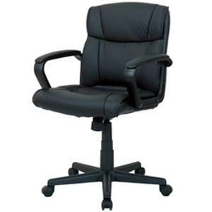 その他 オフィスデポ オリジナル ミッドバックチェア ブラック 1脚 ds-2185018