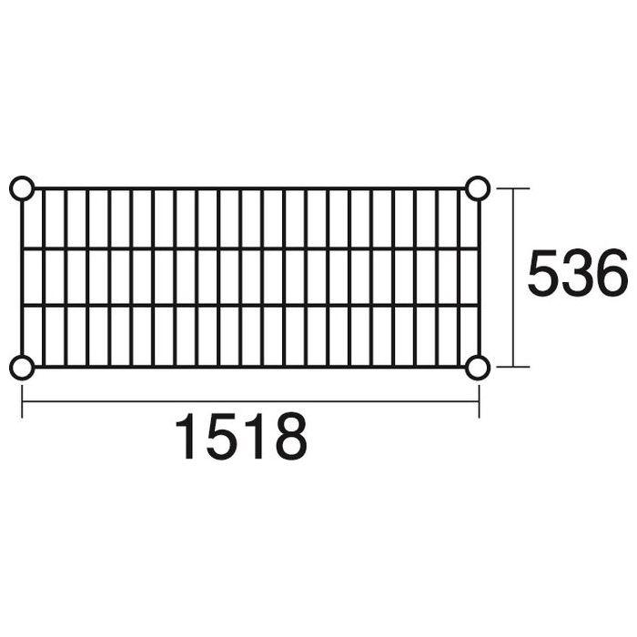 その他 ステンレスエレクター 棚 SBS1520 KND-137047