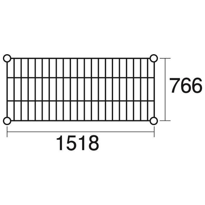その他 ステンレスエレクター 棚 SLMS1520 KND-137119
