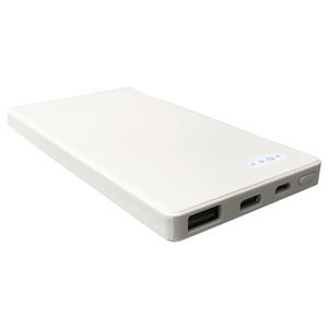 その他 5個セット Lazos 5000mAh Type-C対応 携帯用充電器 ホワイト L-M5C-WX5 ds-2188627