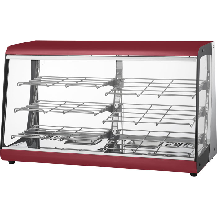 タイジ 視認性の高いクリアなガラスで、商品をよりおいしく魅せる温蔵ショーケースス タイリッシュウォーマー OSL-900R