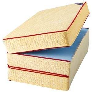その他 マットレス 【厚さ10cm シングル 硬質】 日本製 洗えるカバー付 通年使用可 リバーシブル 『エクセレントスリーパー5』 ds-2200335