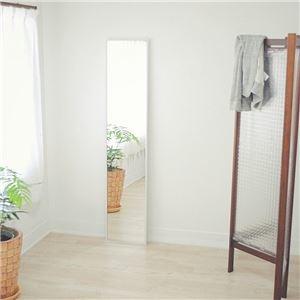 その他 スリムミラー/全身姿見鏡 【ホワイト】 壁掛け 幅32×高さ153cm 天然木フレーム シンプル 日本製 〔玄関 廊下 居間 寝室〕【代引不可】 ds-2202542