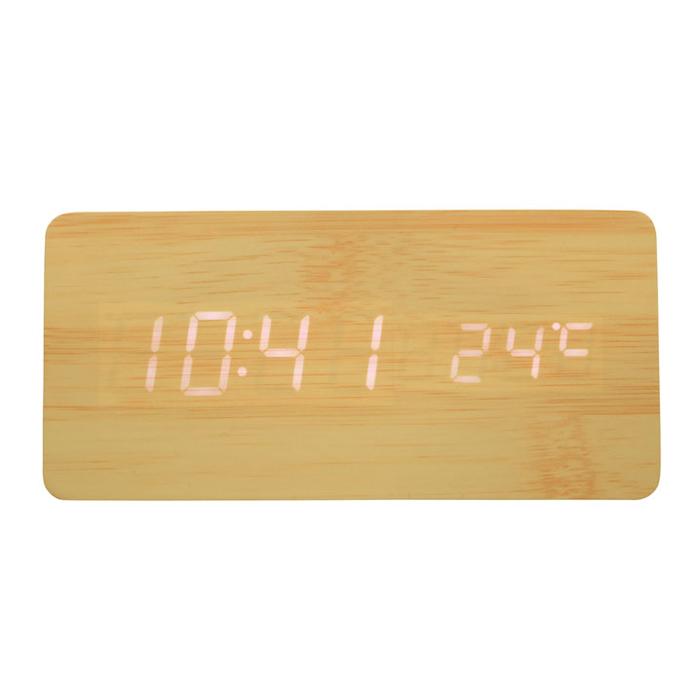 その他 【30個セット】Qi(チー)専用ワイヤレス充電機能付き時計(ナチュラル) 2214420