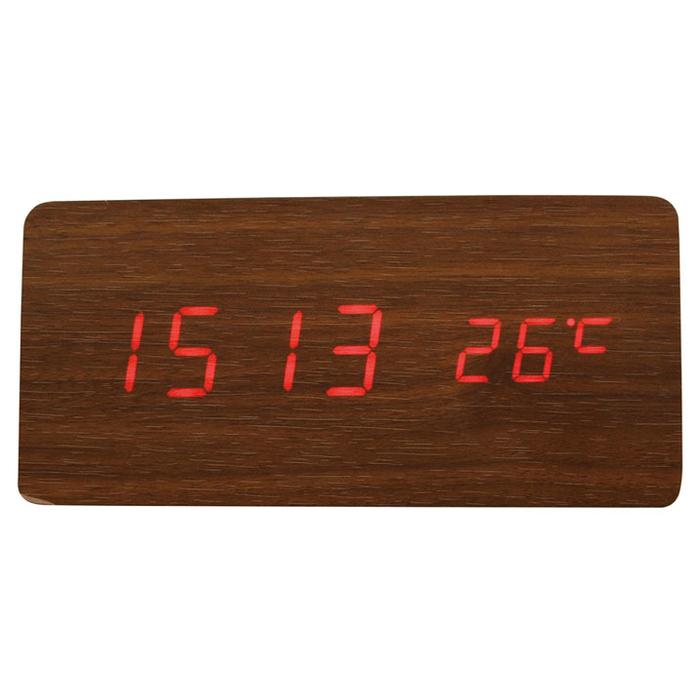 その他 【30個セット】Qi(チー)専用ワイヤレス充電機能付き時計(ブラウン) 2214445