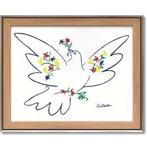 その他 パブロ・ピカソ アートフレーム 「花とハト」 ds-2198670