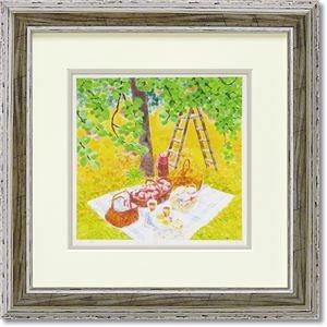 その他 くりのきはるみ ジグレーアートフレーム KH-10151 りんご園にて ds-2198757