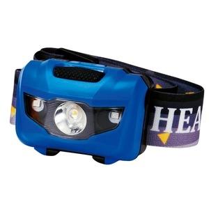 その他 マルチ ヘッドライト/照明器具 【ブルー 100個セット】 ライト:4パターン切替可 〔防災 アウトドア 暗所作業〕 ds-2201782