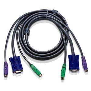 その他 (まとめ)ATEN KVM Switch用ケーブルD-Sub15・PS/2 3.0m 2L-1003P/C 1本【×3セット】 ds-2216625