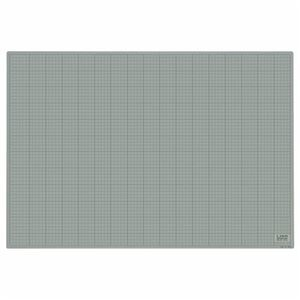 その他 (まとめ)ライオン事務器 カッティングマット再生PVC製 両面使用 900×620×3mm 灰/黒 CM-9012 1枚【×3セット】 ds-2216773