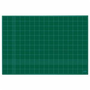 その他 (まとめ)ライオン事務器 カッティングマット再生PVC製 両面使用 900×620×3mm グリーン CM-90 1枚【×3セット】 ds-2216775