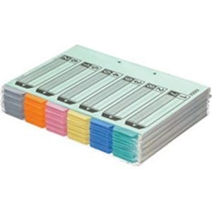 その他 (まとめ)カラー仕切カード A4-S 2穴(6山見出し+扉紙=1組) 50組【×3セット】 ds-2216901