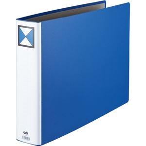 その他 (まとめ)両開きパイプ式ファイル A3-E 60mmとじ 青 10冊【×3セット】 ds-2216902