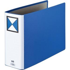 その他 (まとめ)両開きパイプ式ファイル A4-E 80mmとじ 青 10冊【×3セット】 ds-2216909