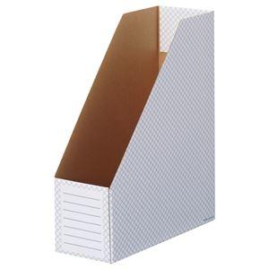 その他 (まとめ)TANOSEEボックスファイル(ホワイト) A4タテ 背幅100mm ブルー 1セット(50冊:10冊×5パック)【×3セット】 ds-2218312