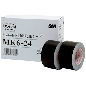 その他 (まとめ)3M ポスト・イット 目かくし用テープ24mm幅×10m MK6-24 1パック(6巻)【×3セット】 ds-2218338