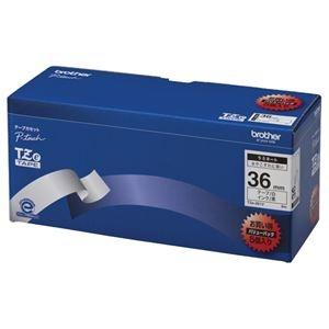 その他 (まとめ)ブラザー BROTHER ピータッチ TZeテープ ラミネートテープ 36mm 白/黒文字 業務用パック TZE-261V 1パック(5個)【×3セット】 ds-2218453