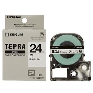 その他 (まとめ)キングジム テプラ PROテープカートリッジ 24mm 白/黒文字 SS24K 1セット(5個)【×3セット】 ds-2218584