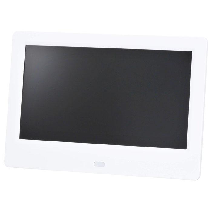 グリーンハウス 7インチ デジタルフォトフレーム(1024*600) ホワイト GH-DF7U-WH【納期目安:12/末入荷予定】