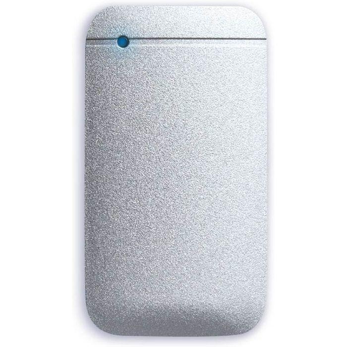 エレコム SSD ポータブル 外付け 1TB Type-Cケーブル付属 高速データ転送 読み込み最大430MB/s USB3.2対応 Surface MacBook 1年保証 シルバー ESD-EF1000GSV