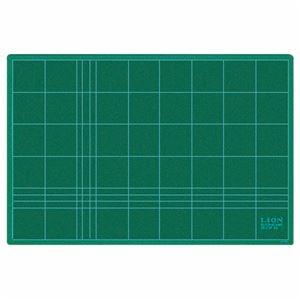その他 (まとめ) ライオン事務器 カッティングマット再生PVC製 両面使用 450×300×3mm グリーン CM-45 1枚 【×10セット】 ds-2233704