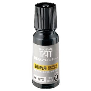 その他 (まとめ) シヤチハタ 強着スタンプインキ タート (多目的タイプ) 小瓶 55ml 黒 STG-1 1個 【×10セット】 ds-2233865