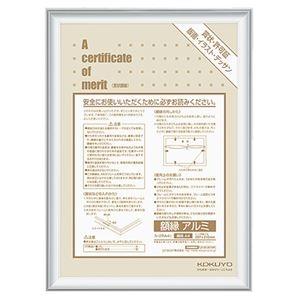 その他 (まとめ) コクヨ 賞状額縁(アルミ) 規格A4 シルバー カ-2RA4C 1枚 【×10セット】 ds-2234294