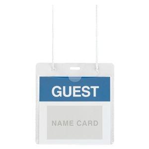 その他 (まとめ) プラス イベント用 吊り下げ式 名札イベントサイズ ホワイト CT-E1 1パック(50個) 【×10セット】 ds-2234574
