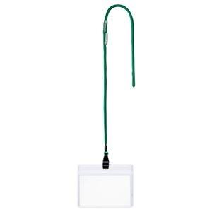 その他 (まとめ) TANOSEE 吊下げ名札 チャックなし 緑 1パック(10個) 【×10セット】 ds-2234595