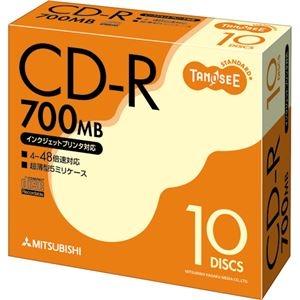 その他 (まとめ) TANOSEE データ用CD-R 700MB ホワイトプリンターブル 5mmスリムケース SR80FP10T 1パック(10枚) 【×30セット】 ds-2235482