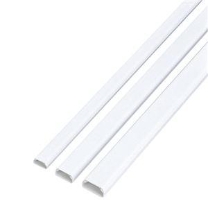 その他 (まとめ) エレコム フラットモール テープ付 幅22mm×長さ1m ホワイト LD-GAF2/WH 1本 【×30セット】 ds-2235535