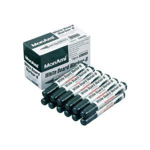 その他 (まとめ) モナミ ホワイトボードマーカーB 丸芯黒 10501 1セット(12本) 【×30セット】 ds-2235982
