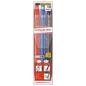 その他 (まとめ) 三菱鉛筆 消せる ゲルインクボールペンユニボールR:E 0.38mm 3色(各色1本) URN180383C 1パック 【×30セット】 ds-2236043