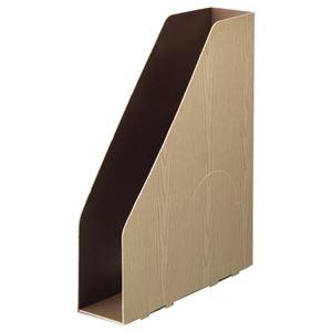 その他 (まとめ) TANOSEE ボックスファイル(WOODY) A4スリムタテ 背幅65mm ナチュラル 1パック(3冊) 【×30セット】 ds-2236565