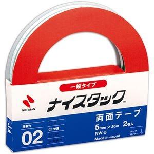 その他 (まとめ) ニチバン ナイスタック 再生紙両面テープ 大巻 5mm×20m NW-5 1パック(2巻) 【×30セット】 ds-2237065