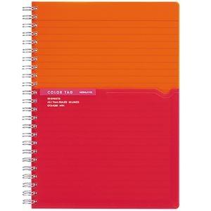 その他 (まとめ) コクヨ ツインリングノート(カラータグ)Bi-COLOR A5 A罫 90枚 オレンジ CTス-C30YR 1冊 【×30セット】 ds-2238583