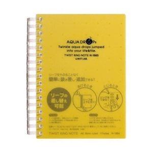 その他 (まとめ) リヒトラブ AQUA DROPsツイストノート 厚型 A6 B罫 黄 70枚 N-1665-5 1冊 【×30セット】 ds-2238592