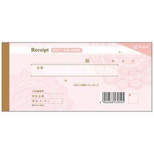 その他 (まとめ) ヒサゴ デザイン領収証 レース/ピンク2枚複写 40組 #831 1冊 【×30セット】 ds-2238668