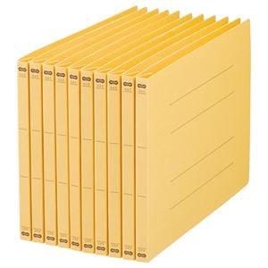 その他 (まとめ) TANOSEE フラットファイル(NS) A4ヨコ 150枚収容 背幅18mm 黄 1パック(10冊) 【×30セット】 ds-2238887