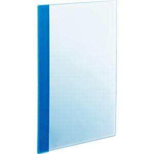 その他 (まとめ) TANOSEE薄型クリアブック(角まる) A4タテ 5ポケット ブルー 1パック(5冊) 【×30セット】 ds-2239573