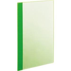 その他 (まとめ) TANOSEE薄型クリアブック(角まる) A4タテ 5ポケット グリーン 1パック(5冊) 【×30セット】 ds-2239575