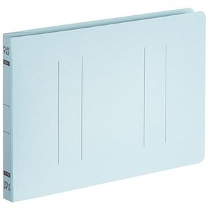 その他 (まとめ) TANOSEEフラットファイルE(エコノミー) A5ヨコ 150枚収容 背幅18mm ブルー 1パック(10冊) 【×30セット】 ds-2239918
