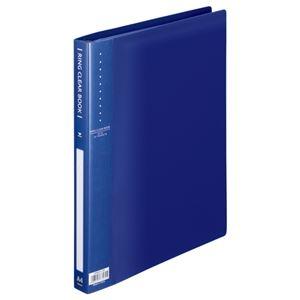 その他 (まとめ) TANOSEE リングクリヤーブック(クリアブック) A4タテ 30穴 10ポケット付属 背幅25mm ブルー 1冊 【×30セット】 ds-2239975