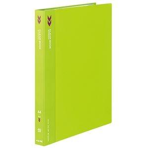 その他 (まとめ) コクヨ クリヤーブック(クリアブック)(K2)固定式 A4タテ 40ポケット 背幅25mm 中紙なし 黄緑 K2ラ-K40YG 1冊 【×30セット】 ds-2240012