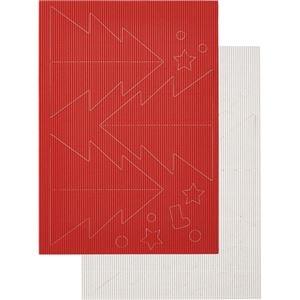 その他 (まとめ) ヒサゴ リップルボード 薄口 型抜きクリスマスツリー 赤・白 RBUT1 1パック 【×30セット】 ds-2241037