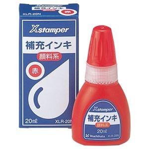 その他 (まとめ) シヤチハタ Xスタンパー 補充インキ 顔料系全般用 20ml 赤 XLR-20N 1個 【×30セット】 ds-2241124