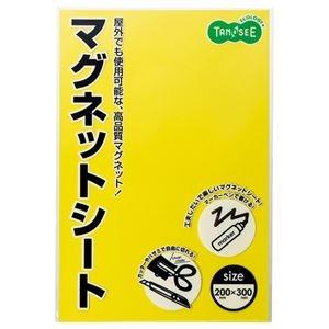 その他 (まとめ) TANOSEE マグネットカラーシート ワイド 300×200×0.8mm 黄 1枚 【×30セット】 ds-2241330