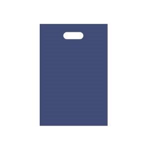 その他 (まとめ) TANOSEE ポリエチレン手提げ袋 小判抜き ハードタイプ M ヨコ250×タテ380×厚さ0.045mm ネイビー 1パック(50枚) 【×30セット】 ds-2241613