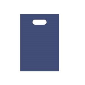 その他 (まとめ) TANOSEE ポリエチレン手提げ袋 小判抜き ハードタイプ S ヨコ200×タテ300×厚さ0.04mm ネイビー 1パック(50枚) 【×30セット】 ds-2241634